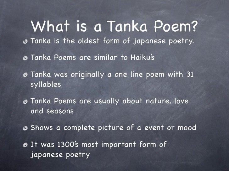 Tanka Poems Examples 1