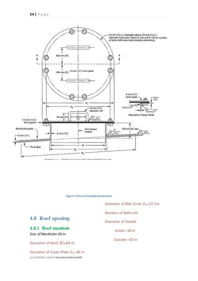 Api 650 tank manway dimensions for Cistern plans