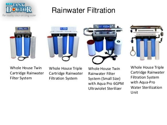 Tank Doctor Provides Rainwater Filtration System