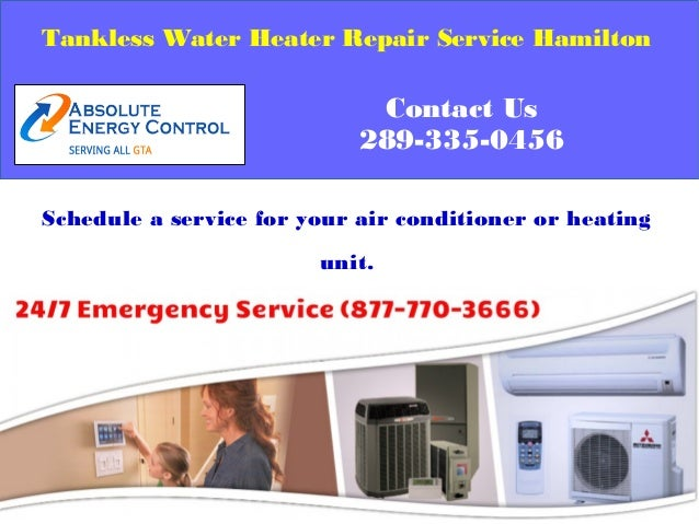 tankless water heater repair and installation service hamilton