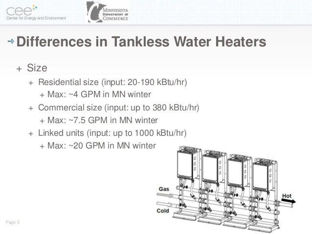 Tankless Water Heaters Update