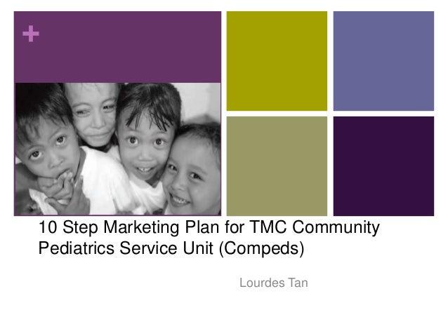 + 10 Step Marketing Plan for TMC Community Pediatrics Service Unit (Compeds) Lourdes Tan