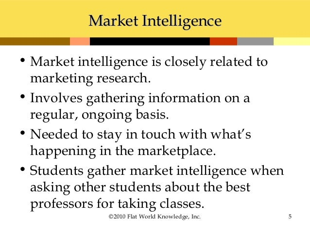 marketing intelligence using market research to We look at what market intelligence is and how you can use it to  marketing  research, on the other hand, means taking a deeper look into the.