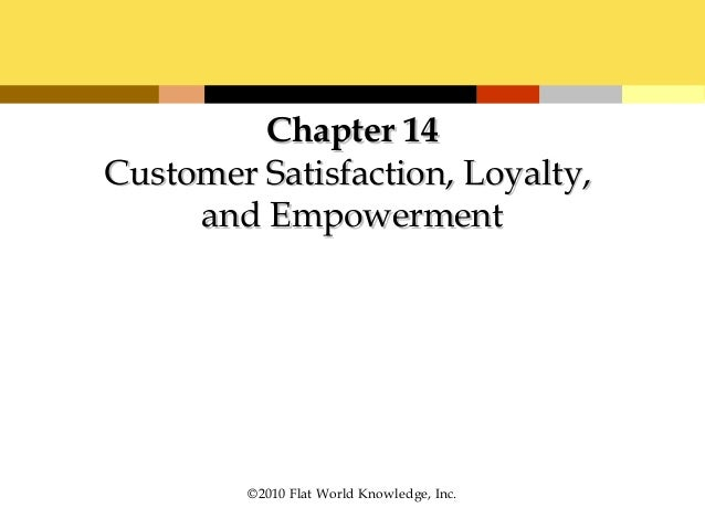 customer satisfaction loyalty and empowerment essay Definition of customer satisfaction:  popular 'customer relations & services' terms backorder code of ethics customer customer value.