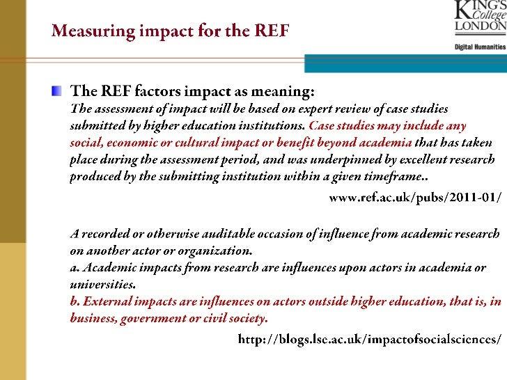 Measuring Impact for the Digital Humanities Slide 3
