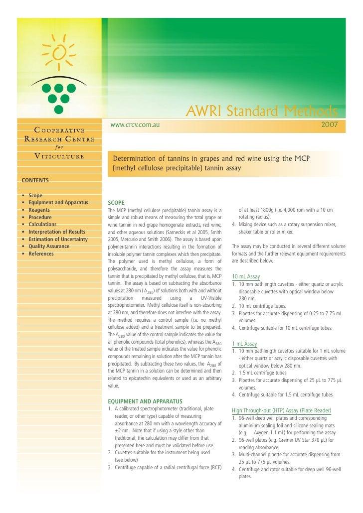 AWRI Standard Methods                                  www.crcv.com.au                                                    ...