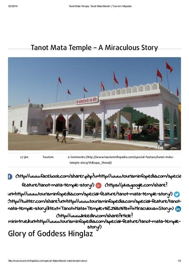 5/2/2016 TanotMataTemple,TanotMataMandir|TourismInfopedia http://www.tourisminfopedia.com/specialfeature/tanotma...