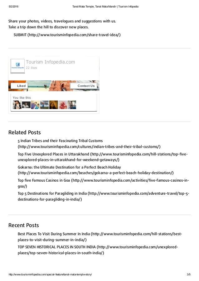 Tanot mata temple, tanot mata mandir   tourism infopedia Slide 3