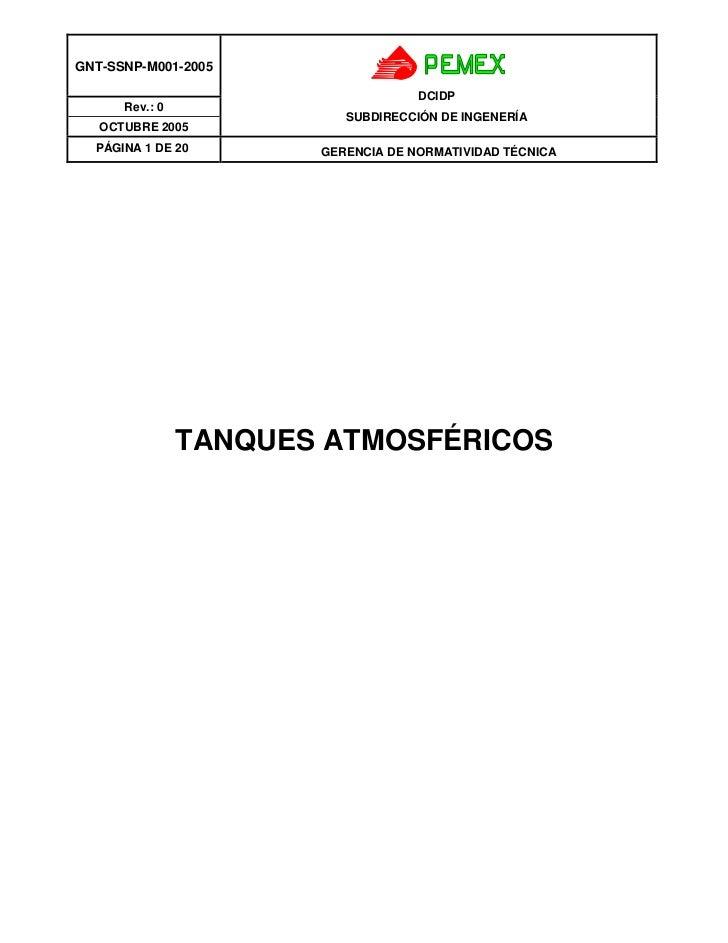 GNT-SSNP-M001-2005                                    DCIDP      Rev.: 0                          SUBDIRECCIÓN DE INGENERÍ...