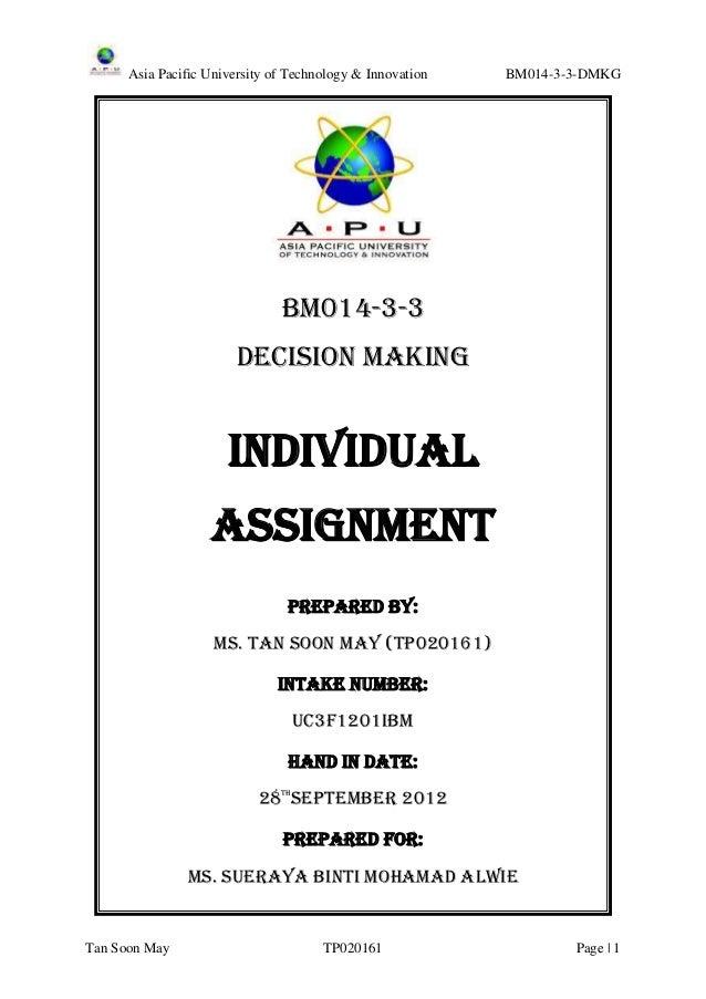 Asia Pacific University of Technology & Innovation   BM014-3-3-DMKG                               BM014-3-3               ...