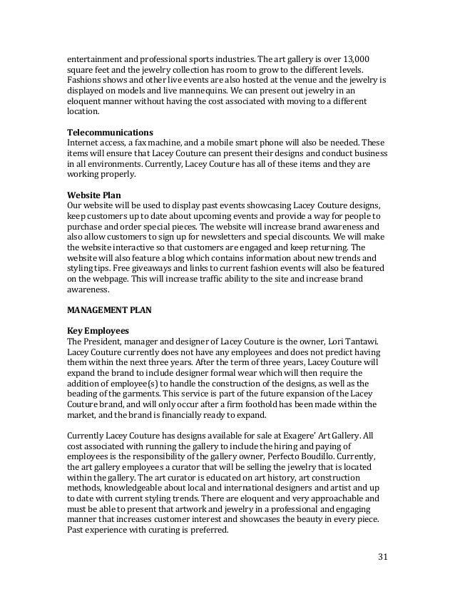lori bush smart business plan