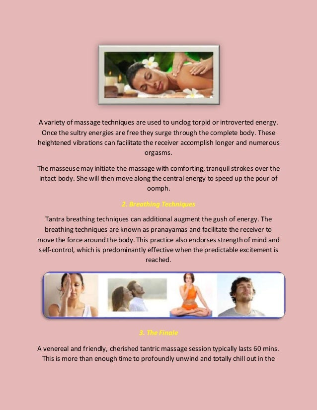A variety of massage techniques are used to unclog torpid or introverted energy. Once the sultry energies are free they su...