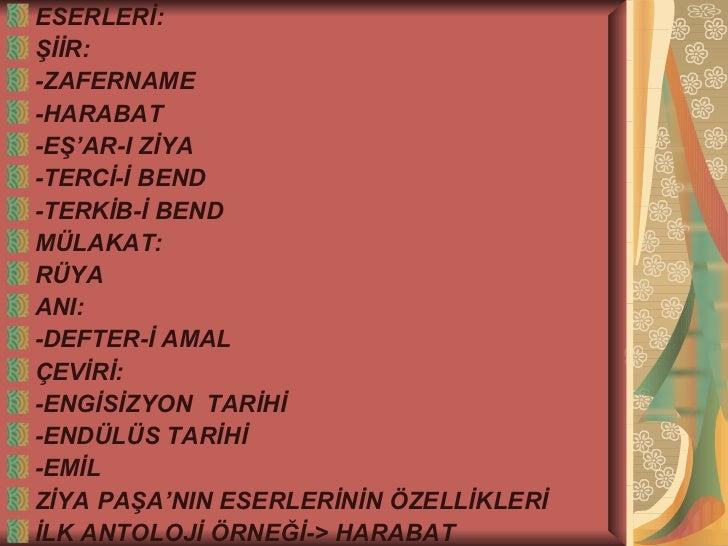 Tanzimat Ve Serveti Funun Edebiyati Ders Sunusu