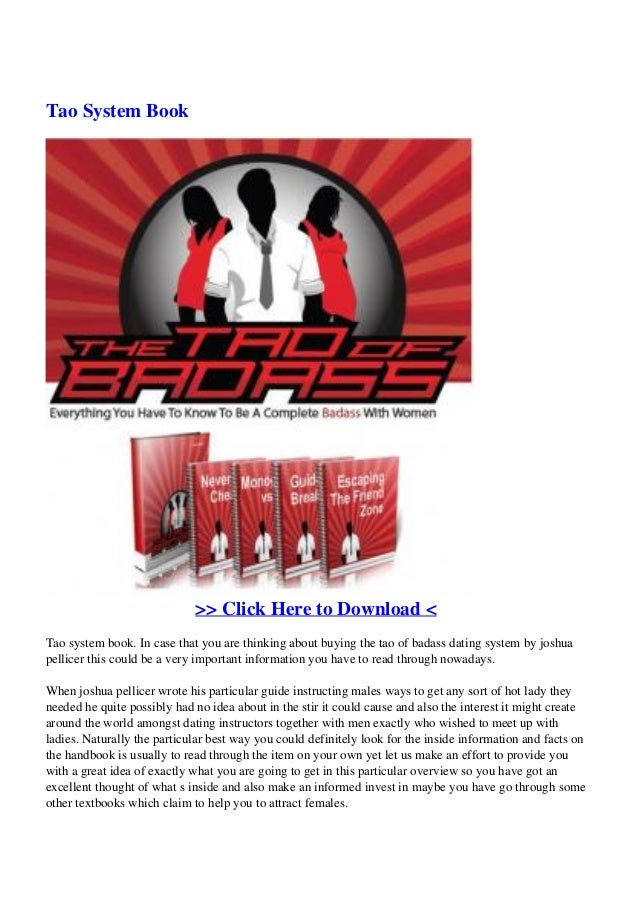 Tao System Book>> Click Here to Download <Tao system book. In case that you are thinking about buying the tao of badass da...