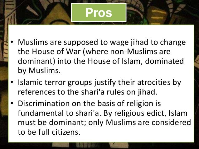 Pros and cons of islam religion