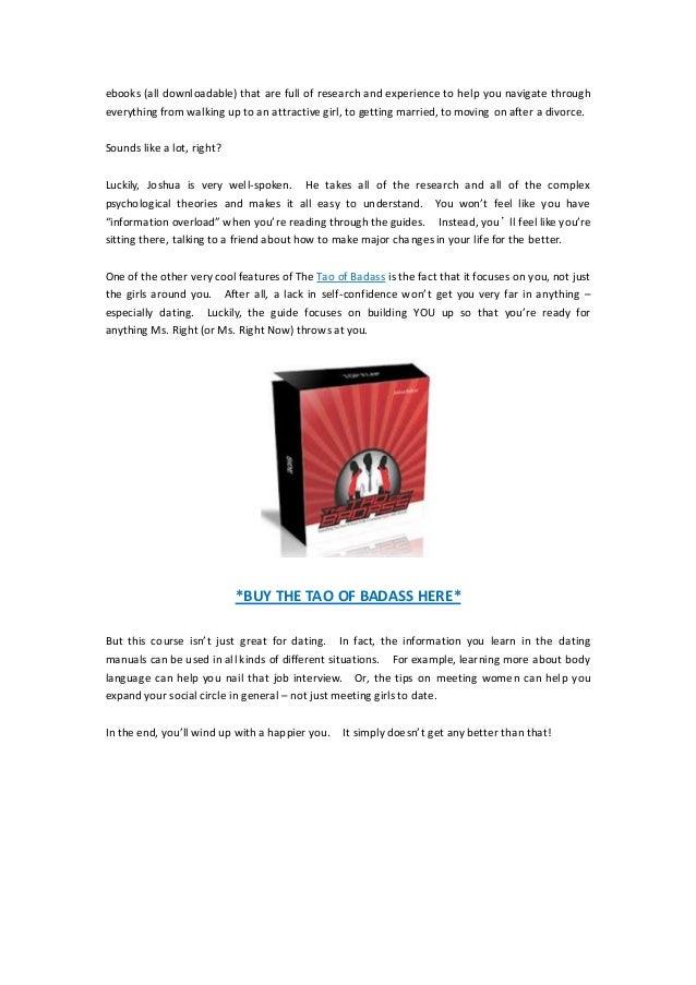 Tao of dating pdf