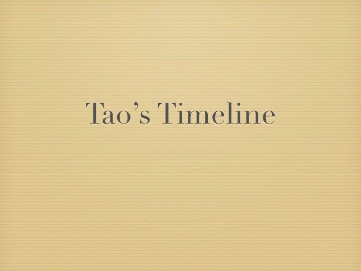 Tao's Timeline