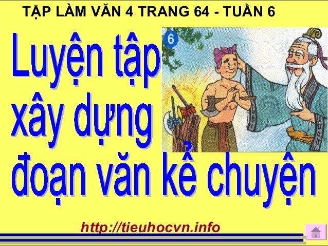 TẬP LÀM VĂN 4 TRANG 64 - TUẦN 6 http://tieuhocvn.info