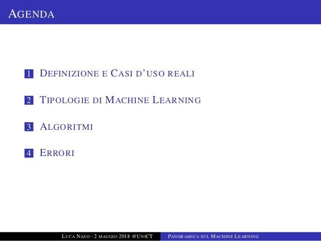 Introduzione sul Machine Learning Slide 2