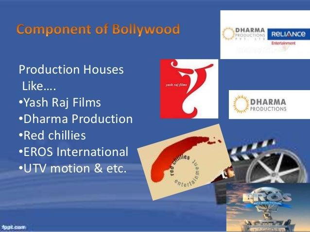 Production Houses  Like….  •Yash Raj Films  •Dharma Production  •Red chillies  •EROS International  •UTV motion & etc.