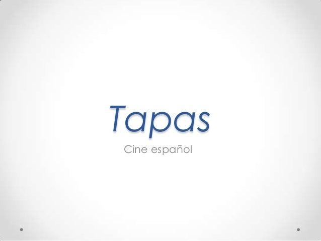 Tapas Cine español