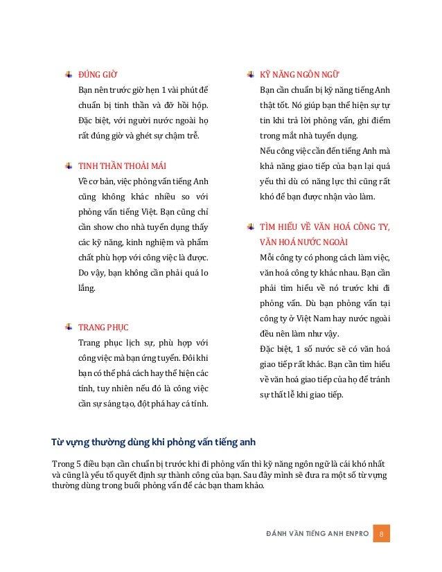 ĐÁNH VẦN TIẾNG ANH ENPRO 8 ĐÚNG GIỜ Bạn nên trước giờ hẹn 1 vài phút để chuẩn bị tinh thần và đỡ hồi hộp. Đặc biệt, với ng...