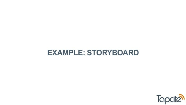 EXAMPLE: STORYBOARD