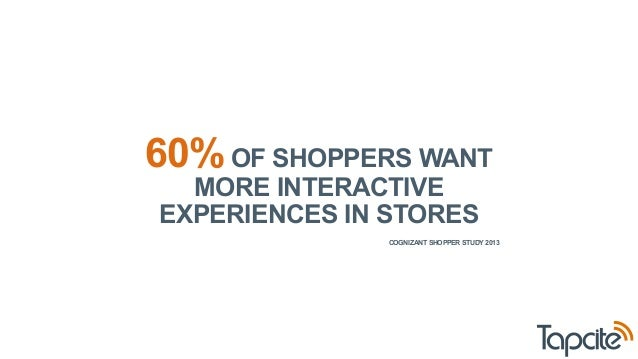 60% OF SHOPPERS WANT  MORE INTERACTIVE  EXPERIENCES IN STORES  COGNIZANT SHOPPER STUDY 2013