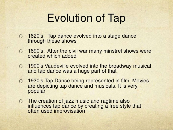 the history of jazz dance Jazz dance, in particular, has evolved every decade to suit the commercial needs  and desires of the  jazz dance: a history of the roots and branches.