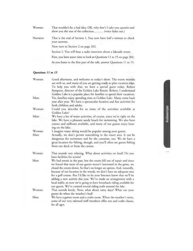 Barron's Listening- Tapescript Test 6