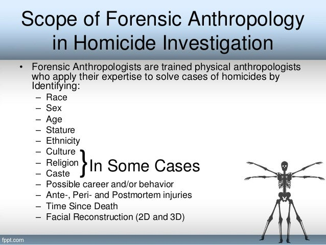 scope of forensic anthropology