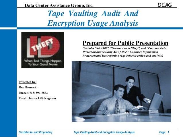 Data Center Assistance Group, Inc.                                                       DCAG                        Tape ...