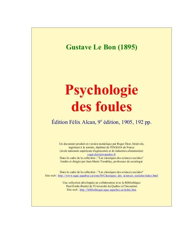Tapez bibliothèque identitaire) gustave lebon psychologie