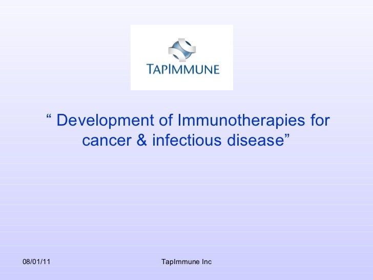 TapImmune, Inc. (OTCBB: TPIV; Stock Twits: $TPIV) Slide 3