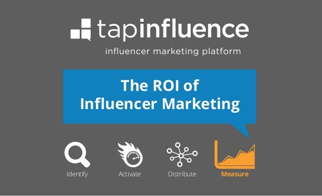 The ROI of Influencer Marketing  Identify  Activate  Distribute  Measure