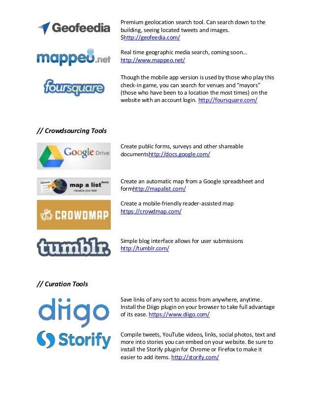 Social Media for Investigations Tools Slide 3