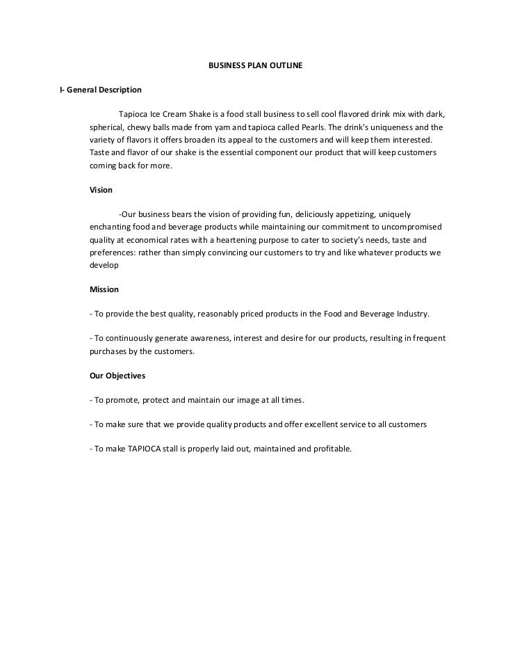 A Sample Fruit Shake Business Plan Template
