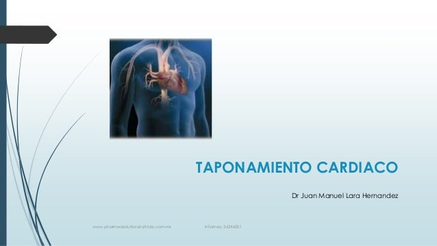 TAPONAMIENTO CARDIACO Dr Juan Manuel Lara Hernandez  www.pharmedsolutionsinstitute.com.mx  Informes. 36246001
