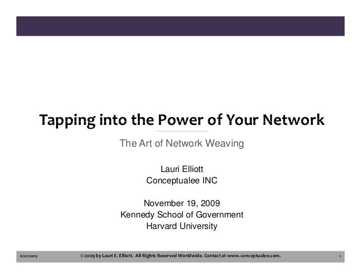 Tapping into the Power of Your Network                                     The Art of Network Weaving                     ...