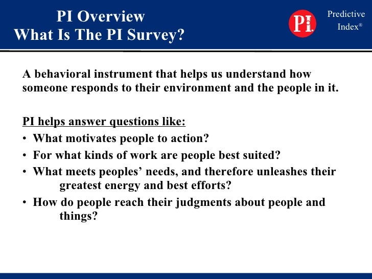 how to answer predictive index questions