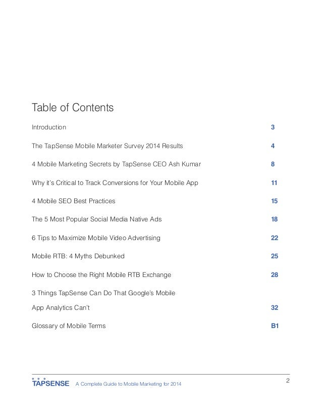 A Complete Guide to Mobile Marketing for 2014 Second Edition