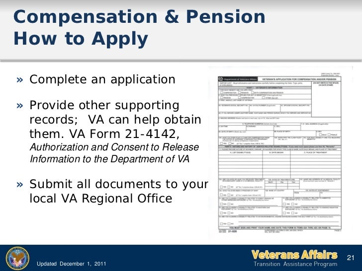 Tap Va Benefits 2012