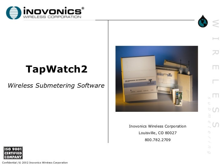 TapWatch2    Wireless Submetering Software                                                      Inovonics Wireless Corpora...