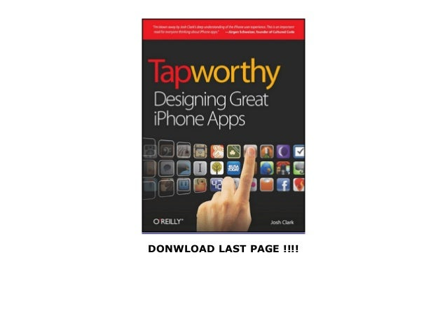 Tapworthy Designing Great iPhone Apps