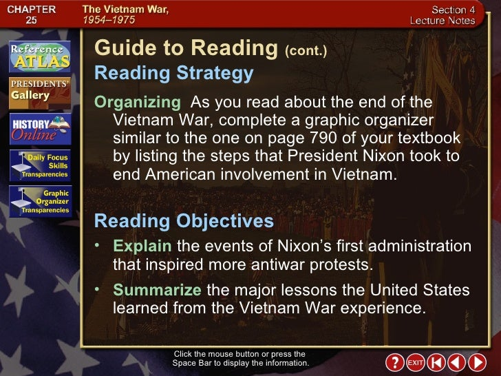 the united states idea of vietnamization and the vietnam war Start studying us history: ch 24 the vietnam war  what was the basic idea behind the policy of vietnamization  after united states withdrew from vietnam,.