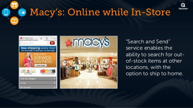 Macy's: Mobile while In-Store                 !   Interactive skincare                     recommender tool on the        ...