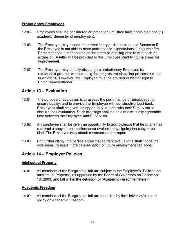 Letter Of Employment Probationary Period An Easy Way To Find A