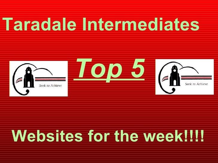Top 5 Taradale Intermediates Websites for the week!!!!