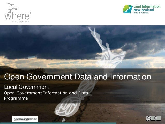 Open Government Data and Information Local Government Open Government Information and Data Programme