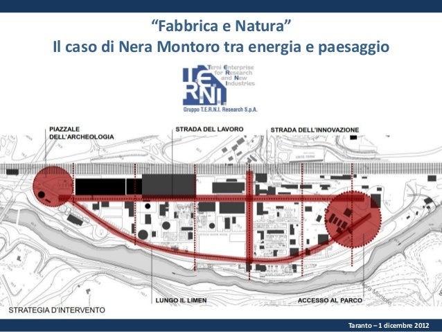 """""""Fabbrica e Natura"""" Il caso di Nera Montoro tra energia e paesaggio  Taranto – 1 dicembre 2012"""